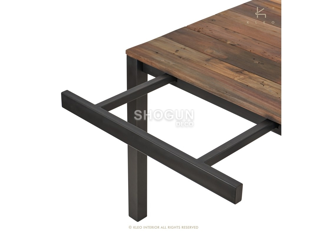 Table A Manger Industrielle Extensible.Table A Manger Rectangulaire Extensible Edito L120 170cm