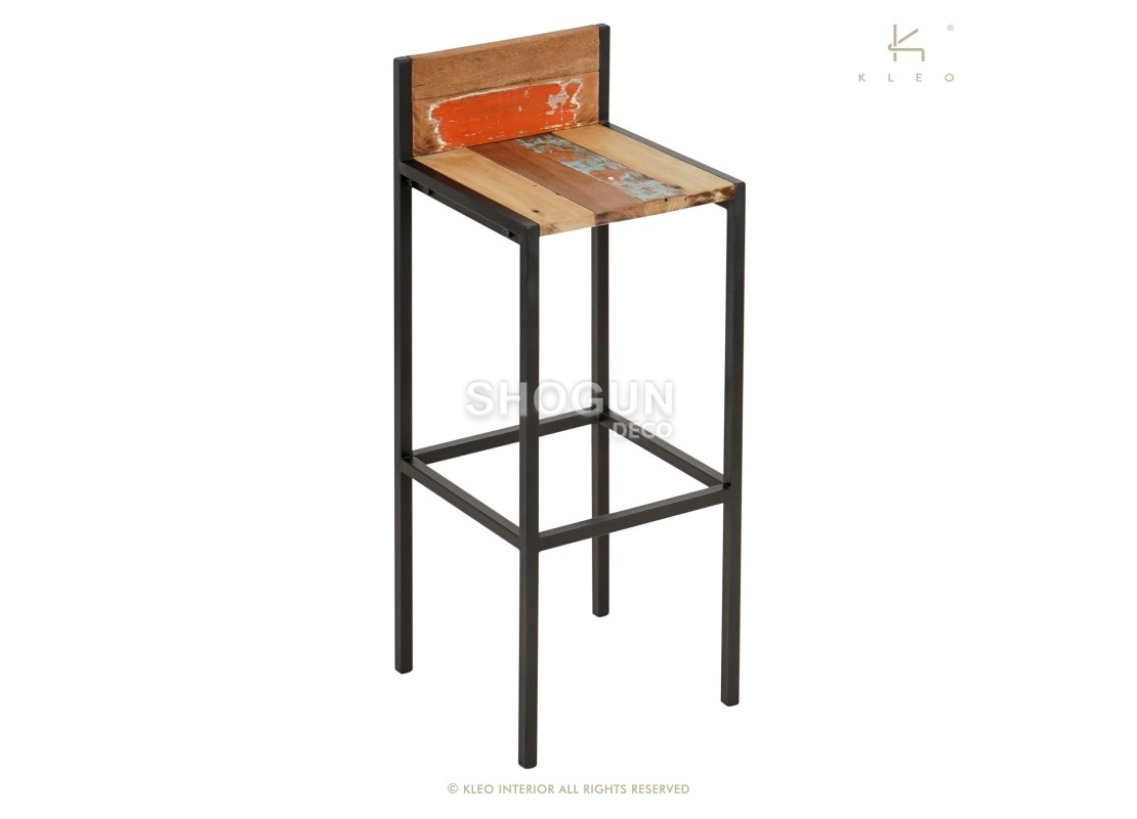 tabouret de baredito avec dossier h95cm. Black Bedroom Furniture Sets. Home Design Ideas