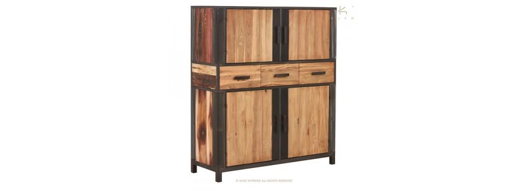 Buffet haut Chic, 4 portes / 3 tiroirs