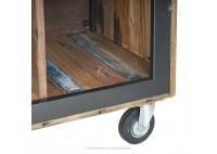 Meuble TV industriel Cube avec 4 niches