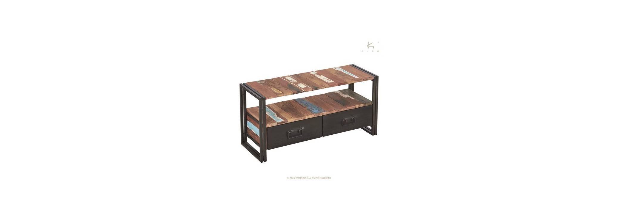 Meuble TV Edito, 2 tiroirs