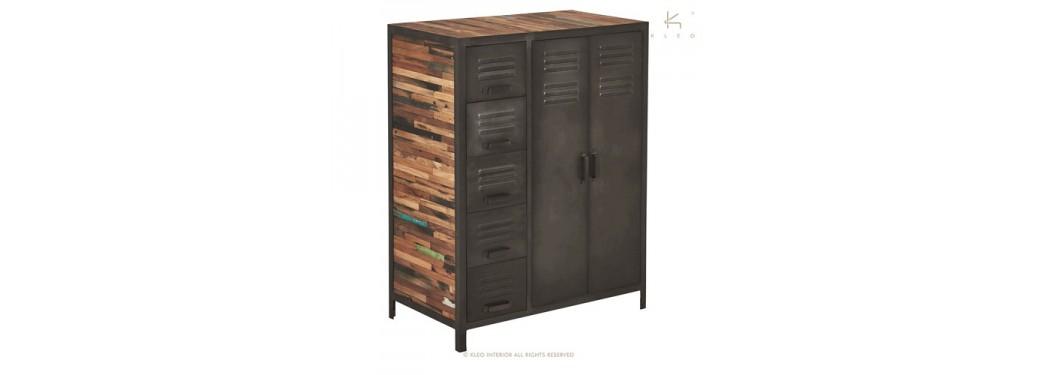 Armoire Locker - 2 portes / 5 tiroirs