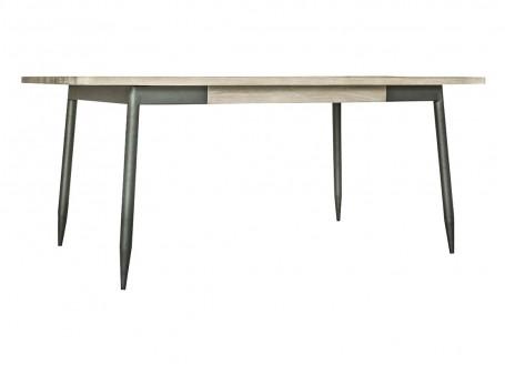 Table de repas rectangulaire noir Alba - 3/4 face