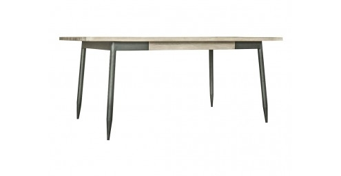 Table de repas rectangulaire noir Alba - 200cm