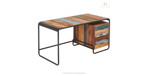 Bureau Sixties, 3 tiroirs - L125cm