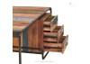 Bureau industriel Sixties avec 3 tiroirs