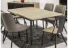 Table de repas rectangulaire noir Alba - ambiance