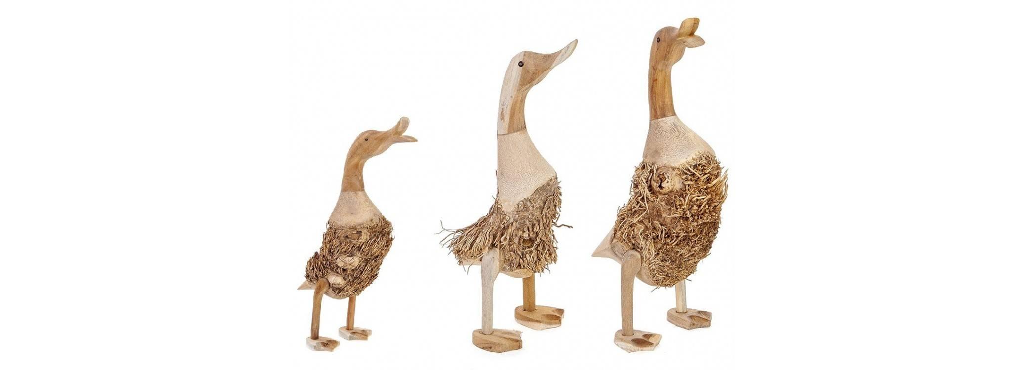 Famille de trois canards, Artisanat du monde.