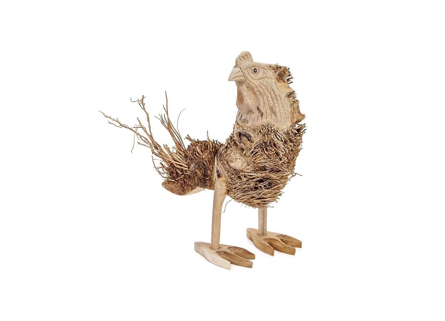 Poule, sculpture en bois. Artisanat du monde.