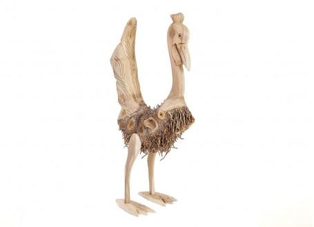Coq, sculpture en bois. Artisanat du monde.