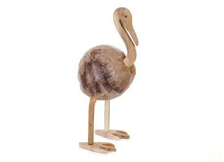 Ibis, sculpture en bois. Artisanat du monde.