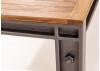 Table repas fixe Profile style industriel en bois massif