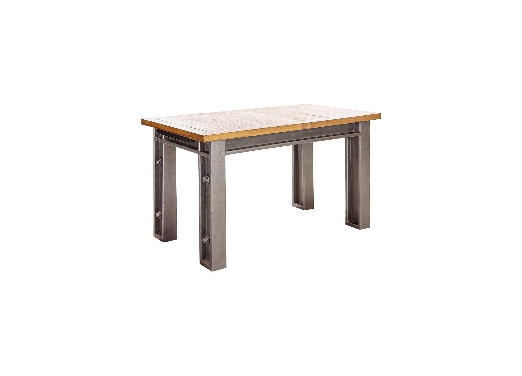 table repas extensible style industriel. Black Bedroom Furniture Sets. Home Design Ideas