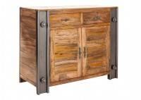 Meuble TV industriel Profile - 1 niche et 2 tiroirs