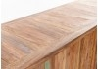Meuble bar comptoir industriel Profile - Plateau en bois