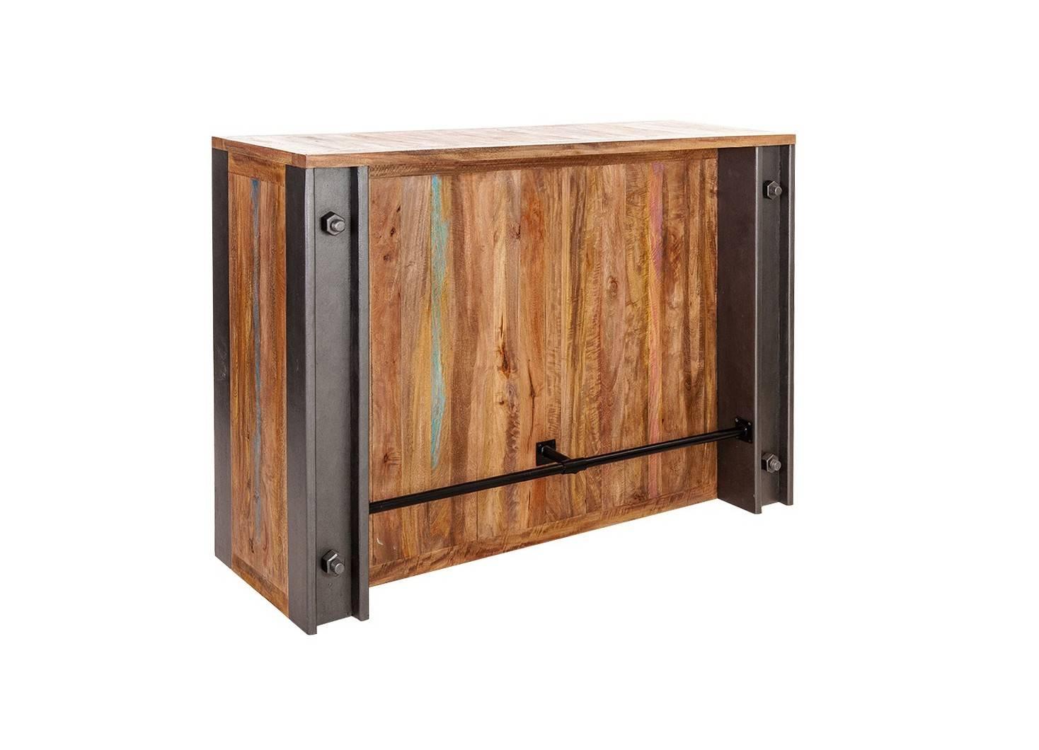 Bar comptoir industriel Profile - Plateau en bois