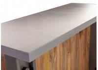 Bar comptoir industriel Profile - Plateau en ciment