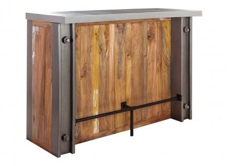 Meuble bar comptoir industriel Profile - Plateau en ciment