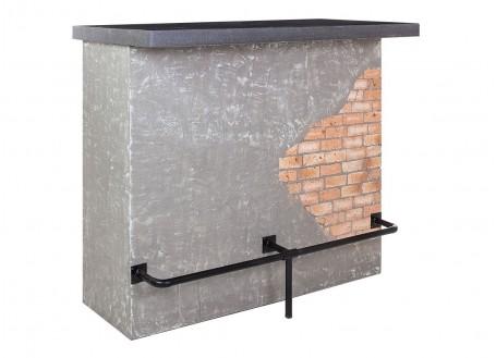 Meuble bar comptoir industriel Brick - Plateau en ciment