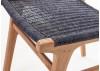 Chaise Nordique en teck, assise en loom finition grey