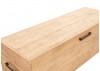 Coffre de rangement Bowtie - Finition chêne naturelle