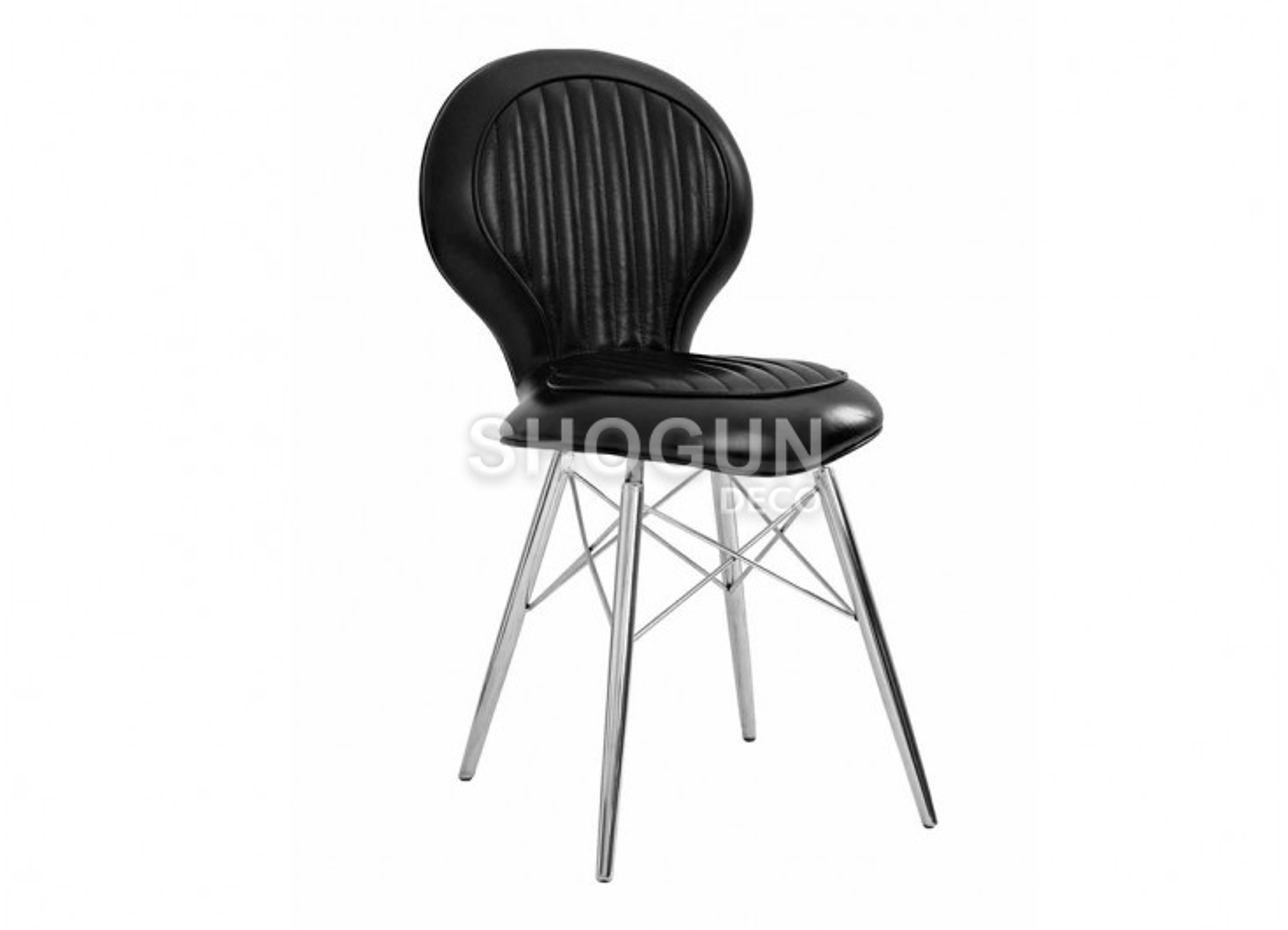 Chaise DC3 en cuir noir