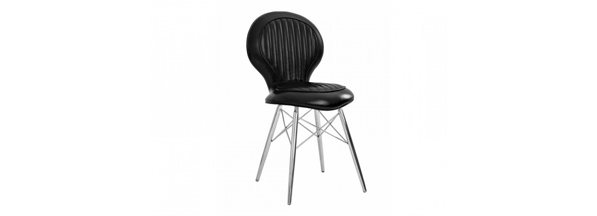Chaise DC3 - Cuir noir