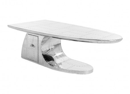 Table basse DC3 aile d'avion avec tiroir
