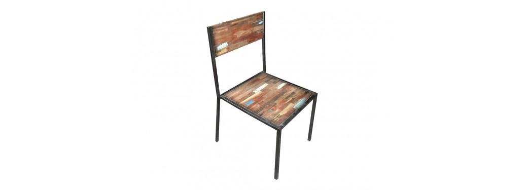 Chaise Edito - Dossier et assise bois