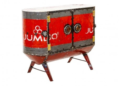 Commode en bidons recyclés - artisanat