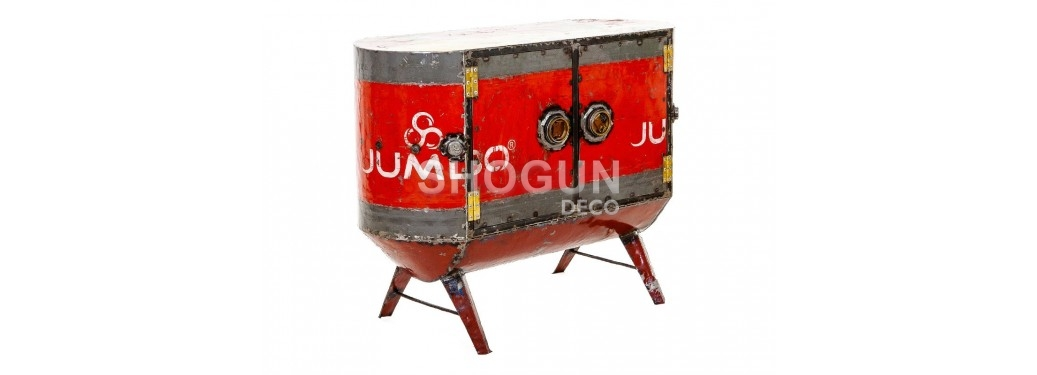Sideboard made out of oil can- arts & crafts