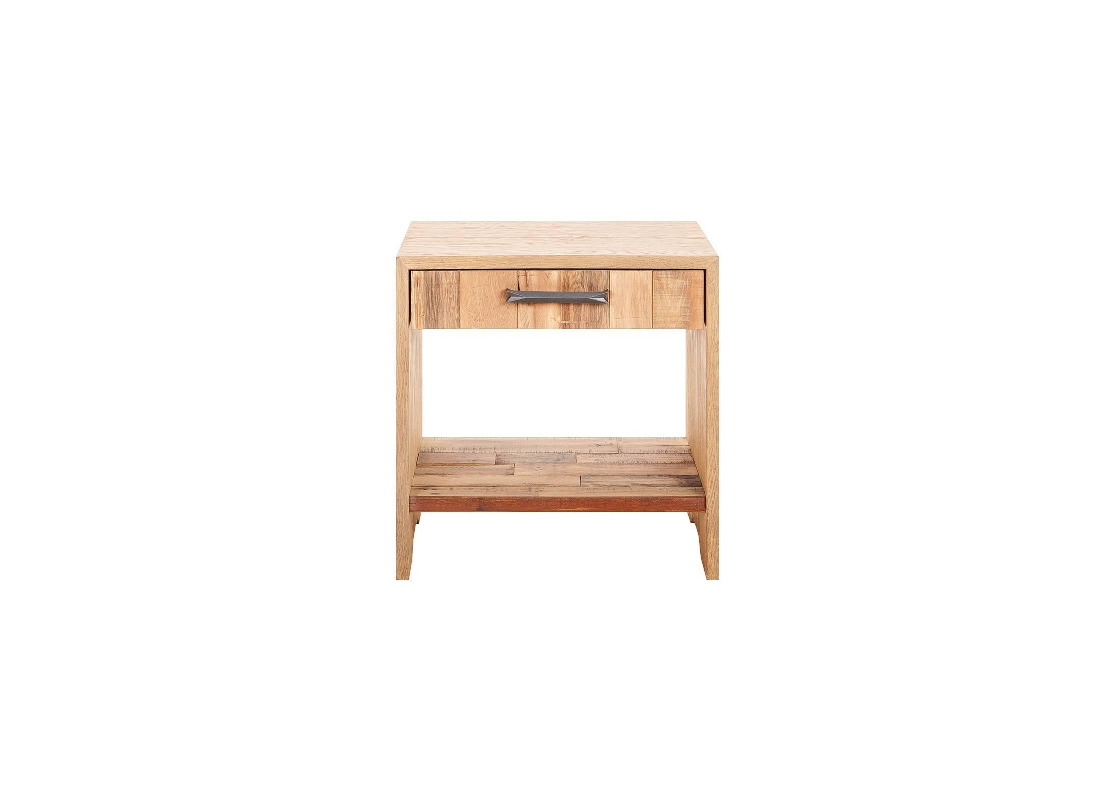 chevet 1 tiroir en ch ne massif et bois de palette. Black Bedroom Furniture Sets. Home Design Ideas