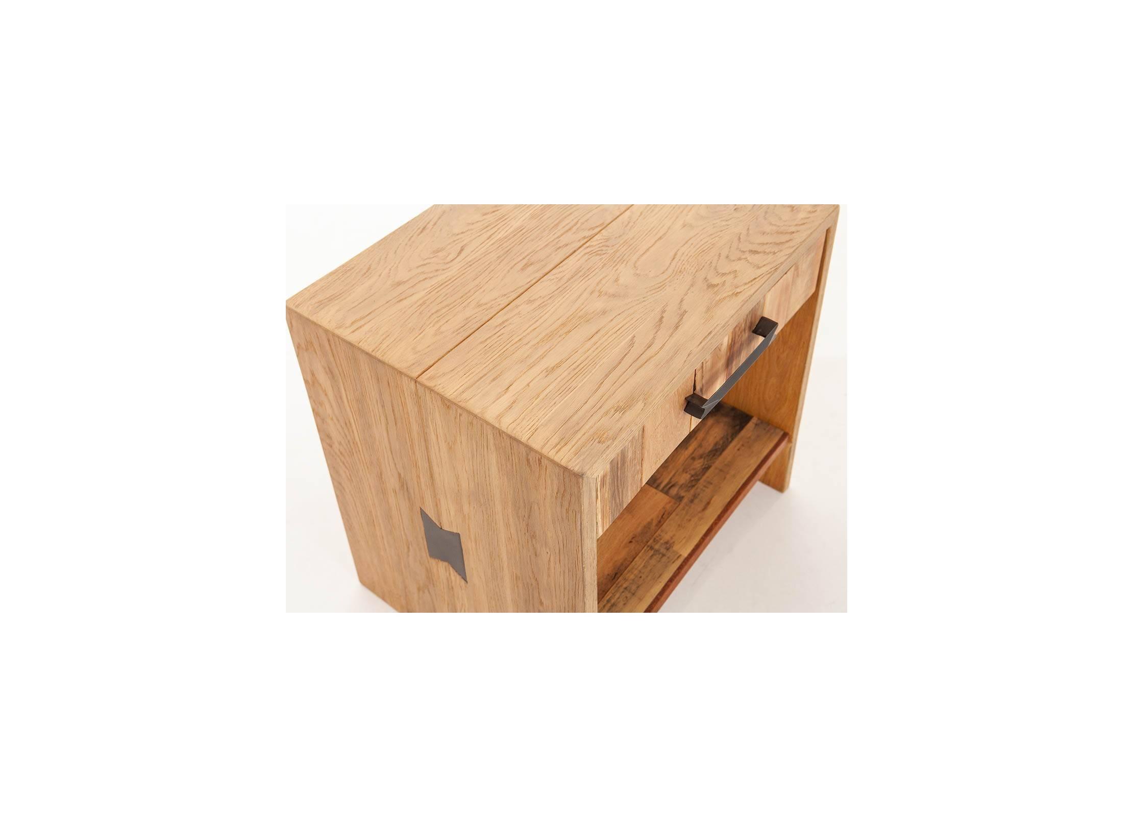 Chevet En Palette Bois chevet 1 tiroir en chêne massif et bois de palette