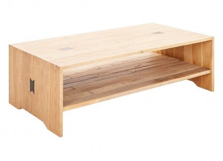 Table basse rectangulaire Bowtie - finition palette