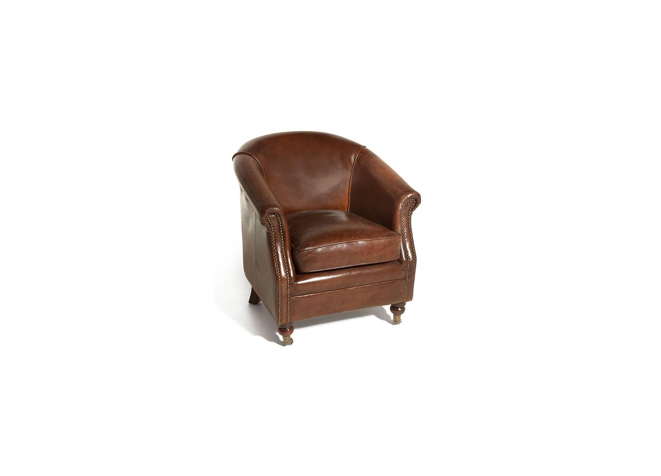 fauteuil cuir zola hugo marron cigare avec roulettes cuir de vachette pleine fleur. Black Bedroom Furniture Sets. Home Design Ideas