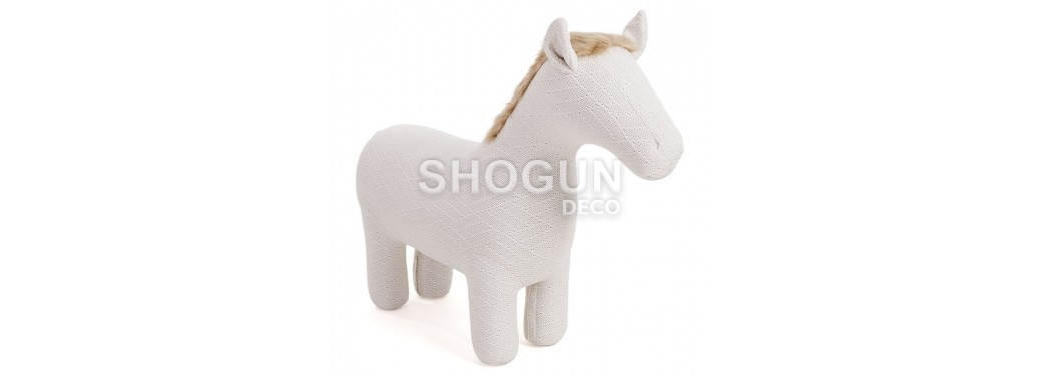 Pouf - tabouret cheval blanc