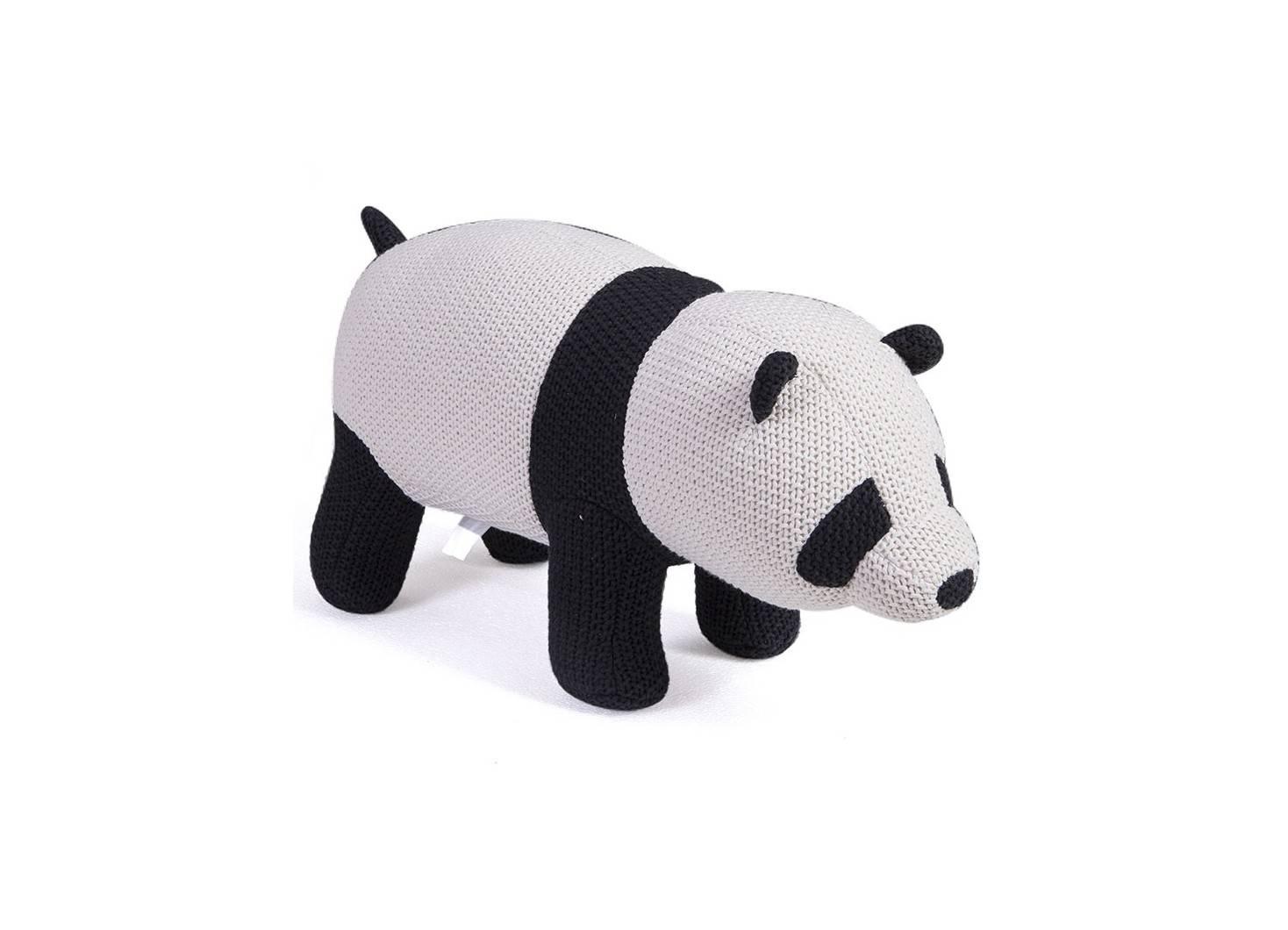 Pouf - tabouret bébé panda. 80 cm
