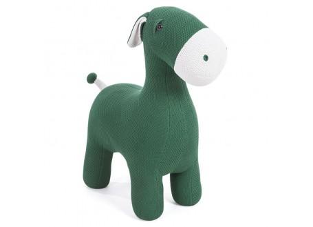 Pouf - tabouret âne vert. 74 cm
