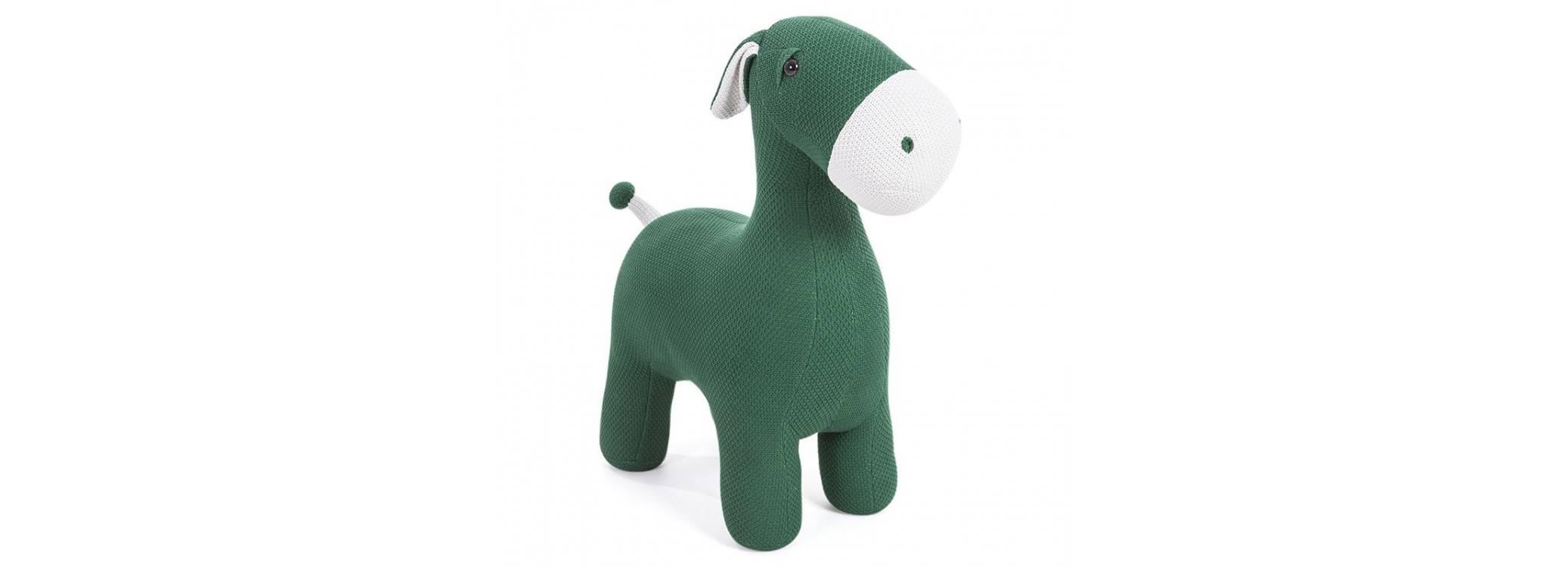 Pouf - tabouret âne vert