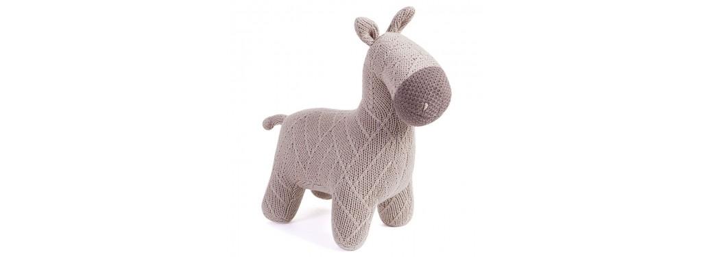 Mini âne marron-café. 37 cm