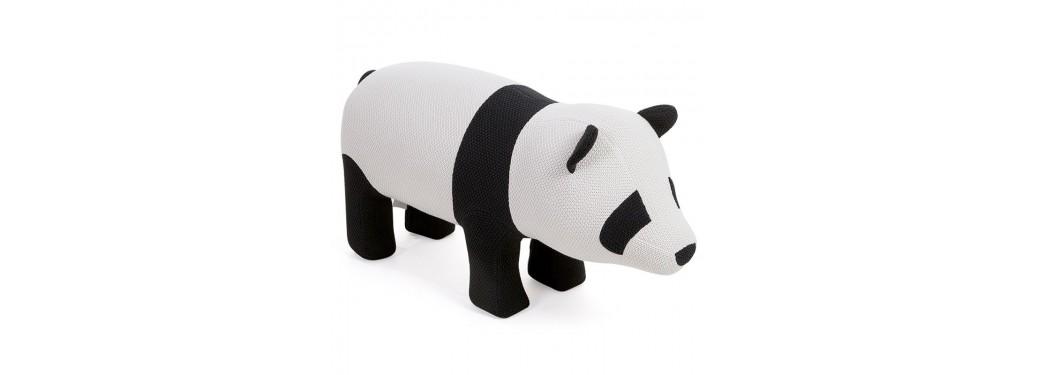 Pouf - tabouret représentant un panda