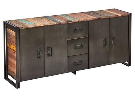 Buffet industriel Edito - 4 portes et 3 tiroirs