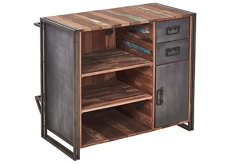 Bar comptoir industriel Edito - 2 tiroirs