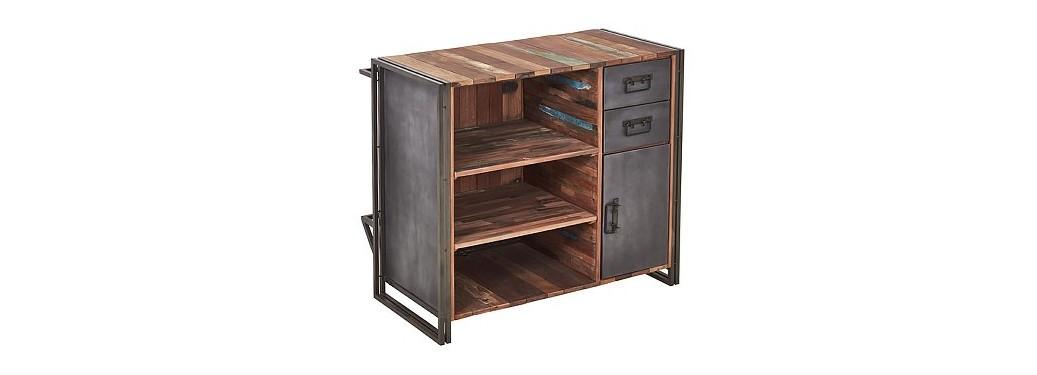 Bar comptoir Edito - 2 tiroirs / 5 tablettes