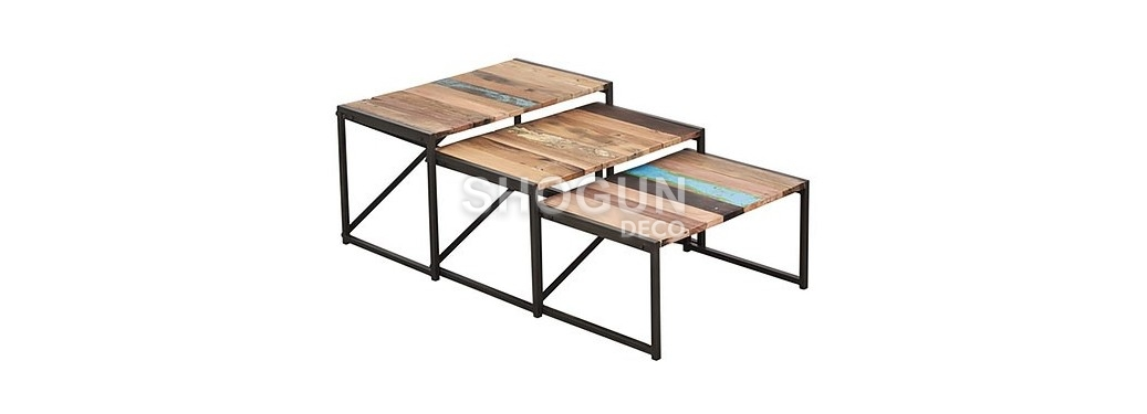 Set de 3 tables gigognes Edito