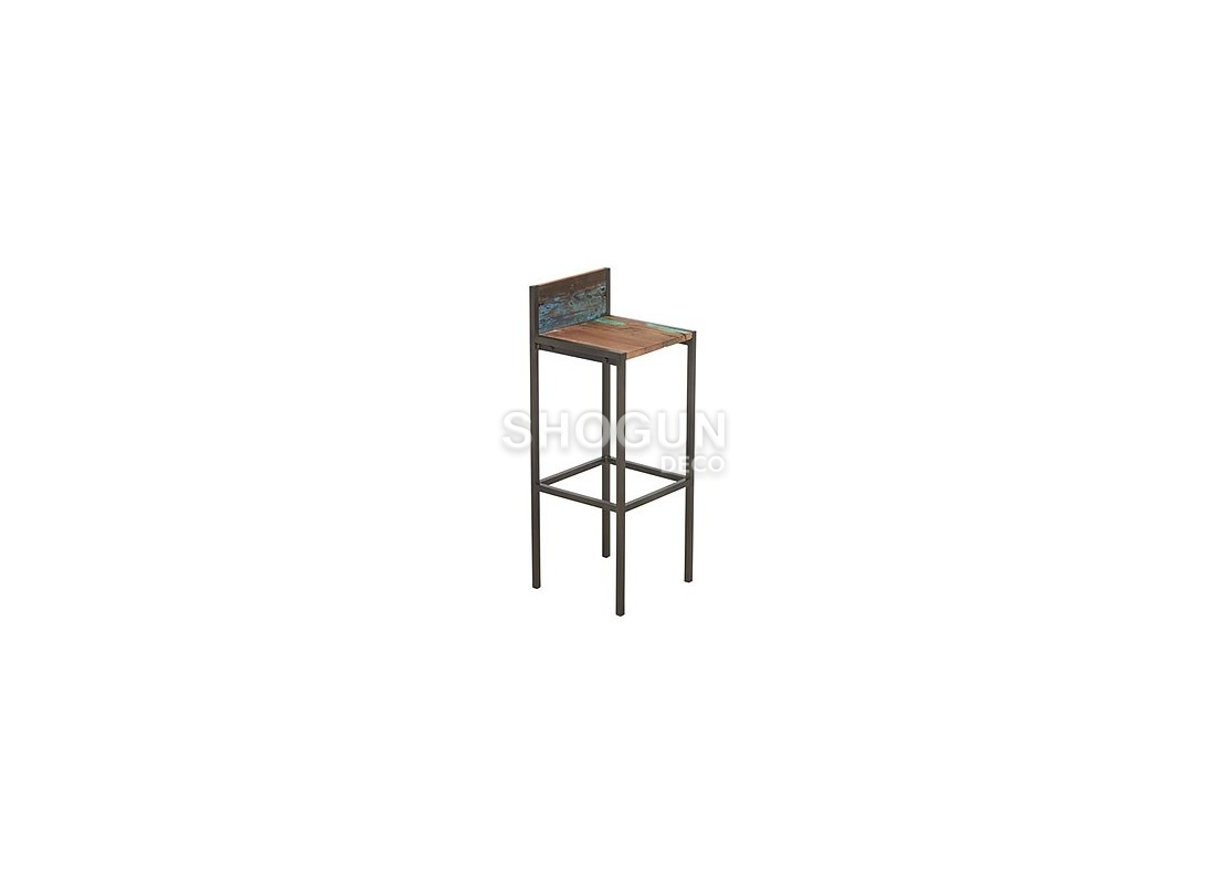 tabouret de baredito avec dossier h95cm. Black Bedroom Furniture Sets. Home Design Ideas