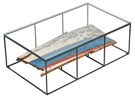 Table basse Influence rectangulaire avec plateau en verre