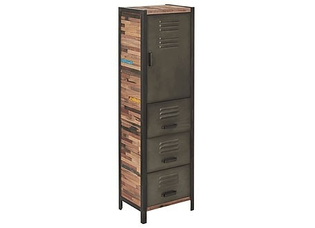 Armoire industrielle Locker - 1 porte et 3 tiroirs