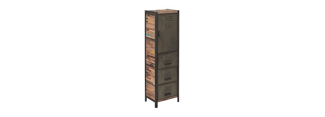 Armoire Locker - 1 porte / 3 tiroirs