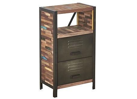 Etagère basse Locker, 2 tiroirs / 1 tablette